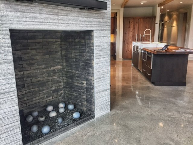 Modern Fireplace - Town of Frisco, CO - Home for Sale, Waterdance