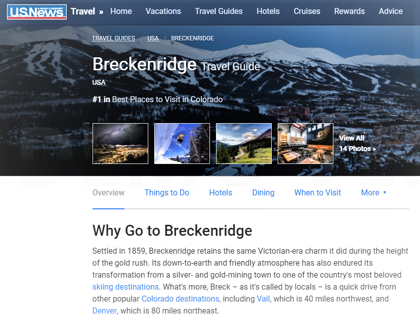 Town of Breckenridge - #1 Place to Visit and Ski in Colorado