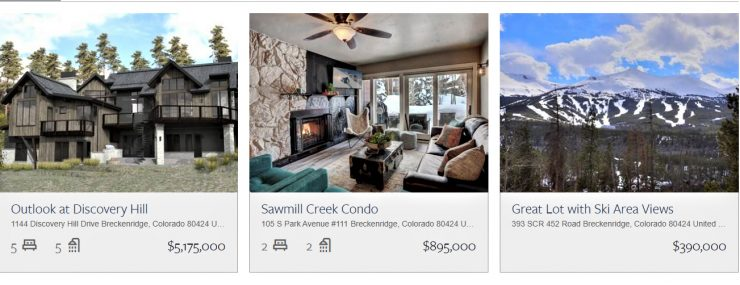 Breckenridge Homes and Land For Sale - June 2019