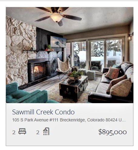Breck Condo For Sale: Sawmill Creek Condominimums 111