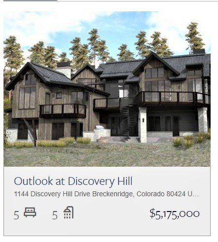 Breckenridge New Construction: Outlook on Discovery Hill - Highlands Neighborhood