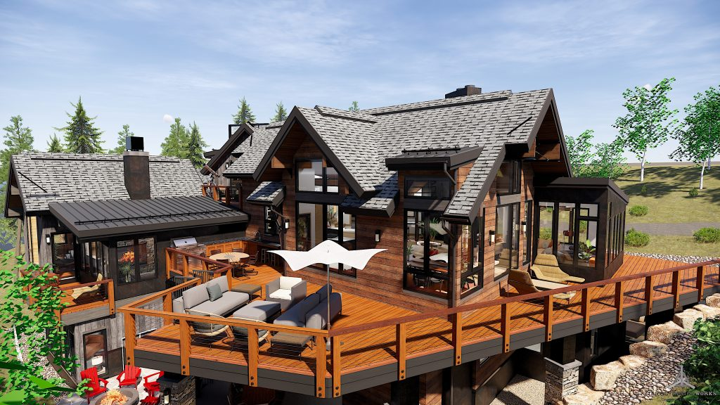 Large Deck of Modern New Construction Home at 1144 Discovery Hill in Breckenridge Colorado listed by Dina Sanchez
