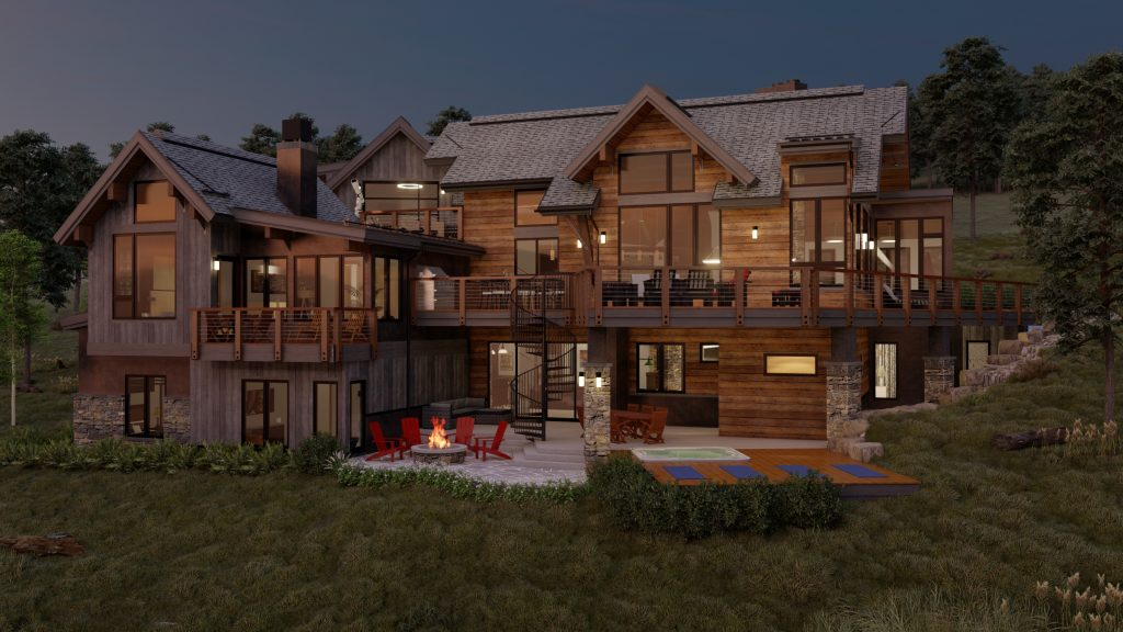 twilight exterior rendering 1144 discovery hill breckenridge colorado dina sanchez